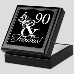 Fabulous 90th Birthday Keepsake Box